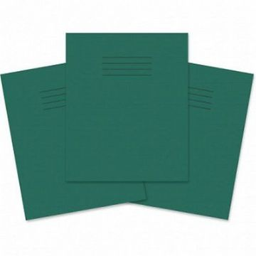 10 x SCHOOL EXERCISE BOOKS MATHS SMALL 5mm SQUARES GREEN COVER 48 Page A5